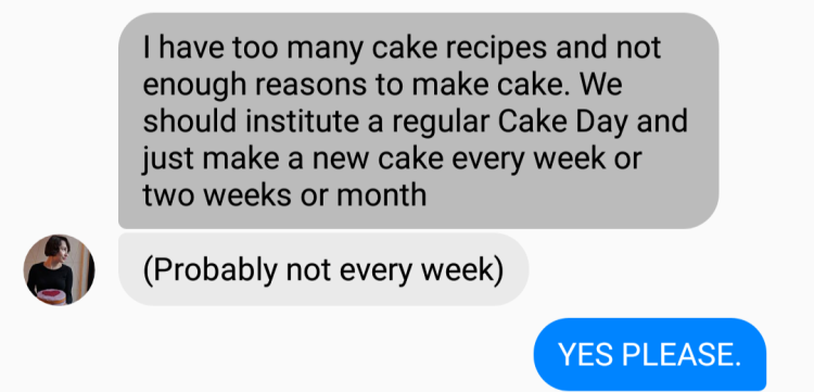 cake day facebook message